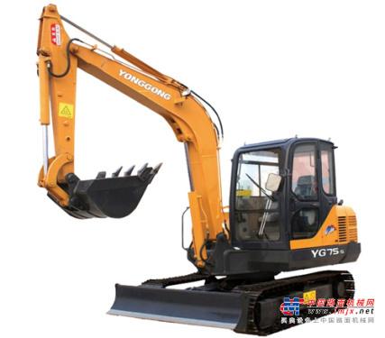 永工小型挖掘机推荐,永工YG75-6D教学用电动挖掘机全解