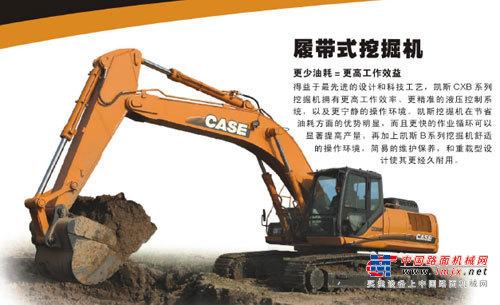 凯斯大型挖掘机推荐,凯斯CX360B履带式挖掘机全解