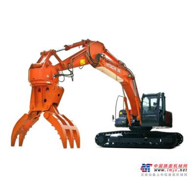 日立中型挖掘机推荐,原装日立ZX240LC(MH)-3抓钢机全解