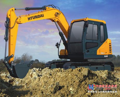现代挖掘机推荐,现代重工75VS挖掘机全解