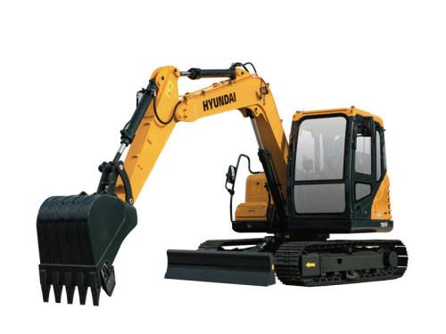 蓝冠代理现代小型挖掘机推荐,现代重工R75BVS挖掘机全解