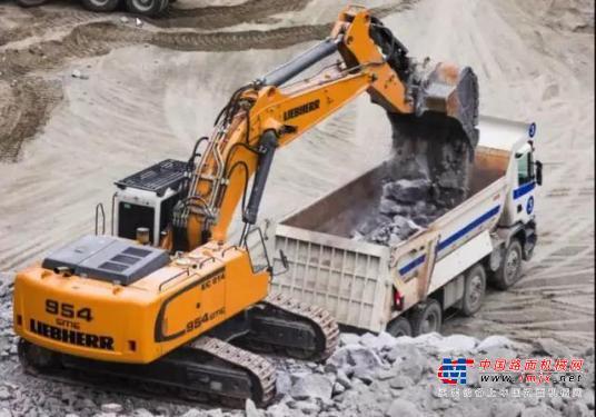 利勃海尔特大型挖掘机推荐,利勃海尔R954C大型液压挖掘机全解