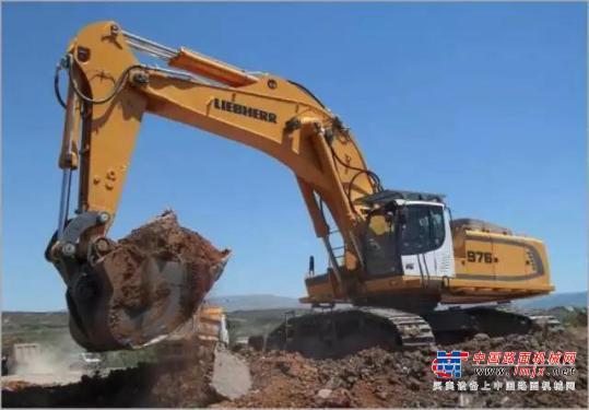 利勃海尔特大型挖掘机推荐,利勃海尔R976大型液压挖掘机全解