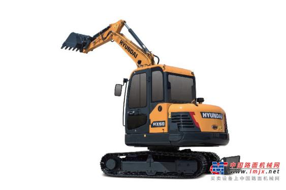 现代小型挖掘机推荐,现代重工HX60挖掘机全解